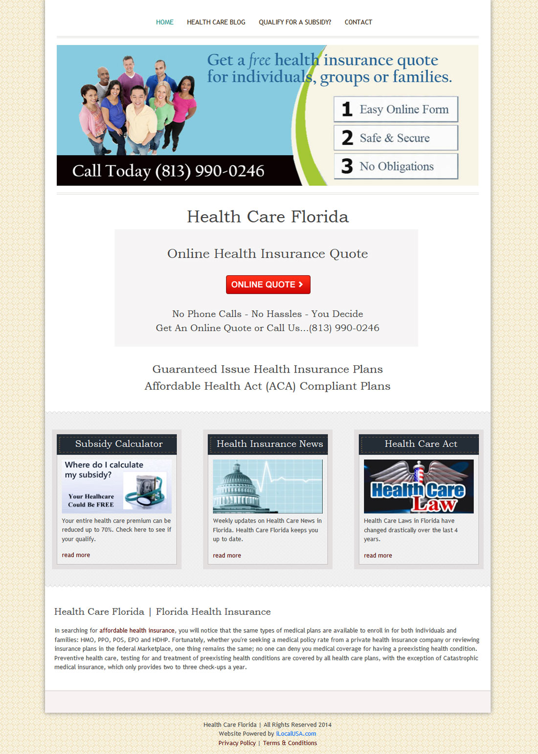Health Care Florida Insurance Website