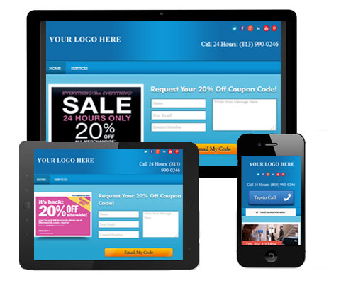 Example of a lead generating website.